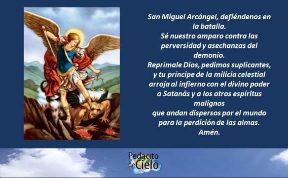Oración A San Miguel Arcángel Pedacito De Cielo